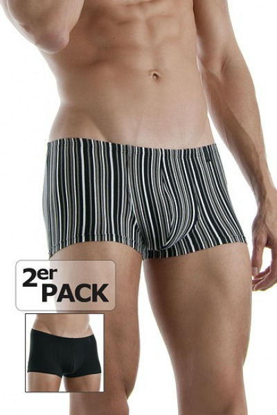 Pant, 2er-Pack gestreift